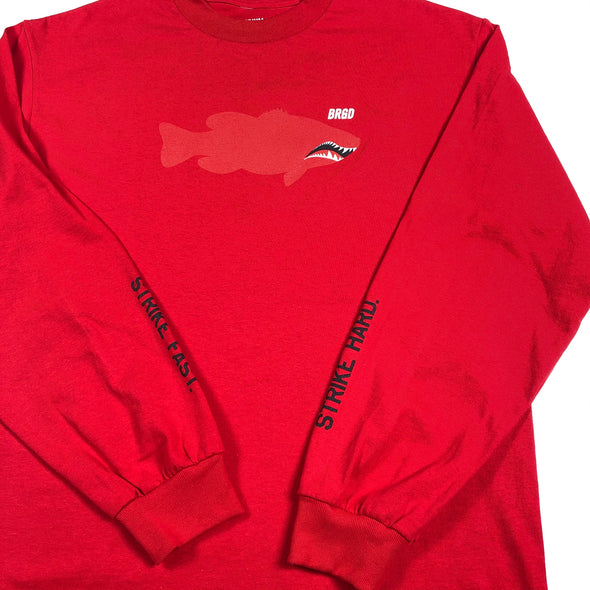 FIGHTER LUNKER L/S TEE  - RED