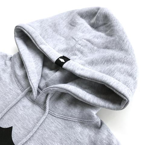 SHIELD LOGO PULLOVER HOODIE - HEATHER GREY