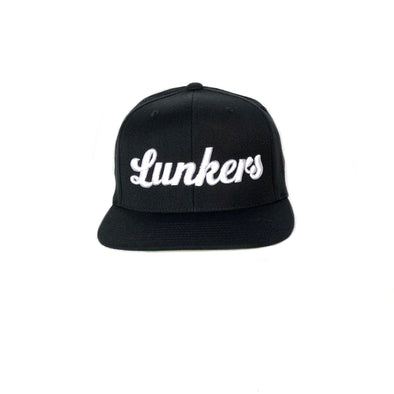Bass Brigade Lunkers Snapback Hat - BLACK/White