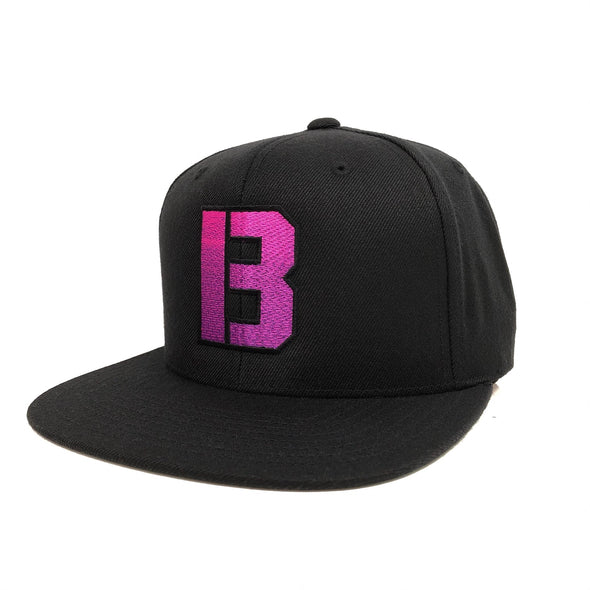 B GRADIENT SNAPBACK HAT - BLACK