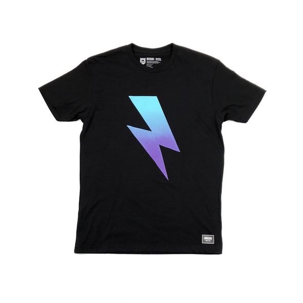 GRADIENT BOLT TEE - BLACK