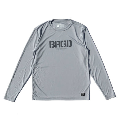 BRGD Logo Performance L/S Tee - Silver/Charcoal