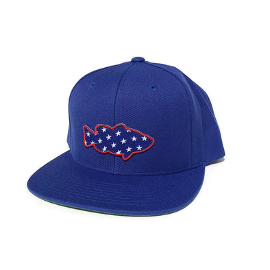 Lunker Stars Patch Snapback Hat - Royal