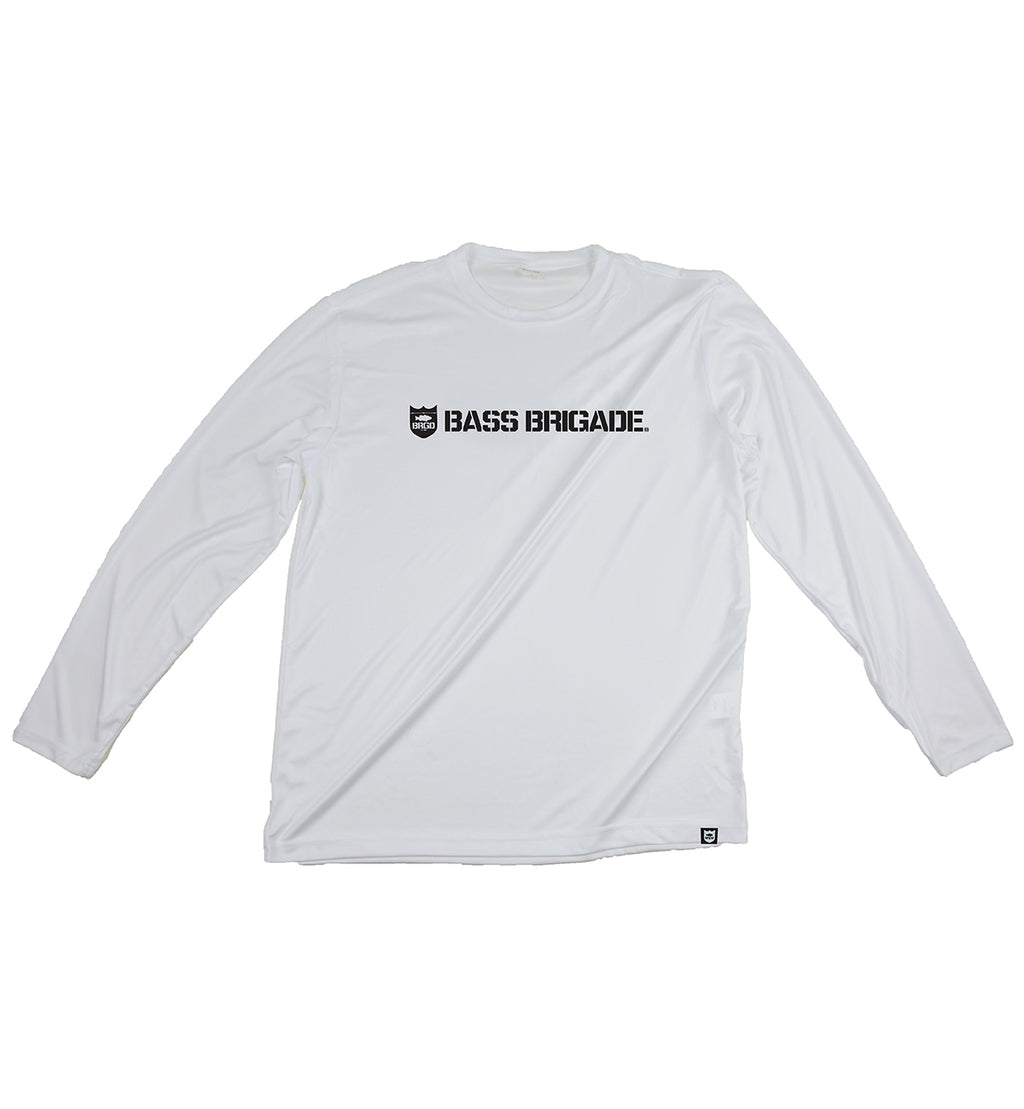 SHIELD AND WORDMARK Performance Tee L/S - White/Black