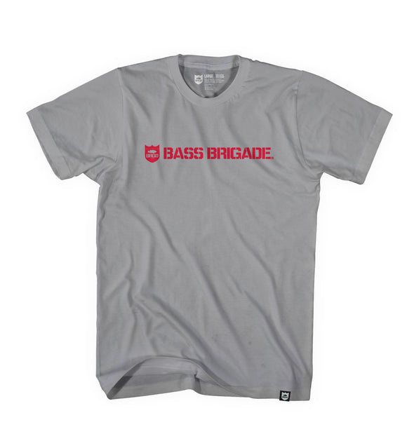 SHIELD WORDMARK TEE - GRAPHITE HEATHER