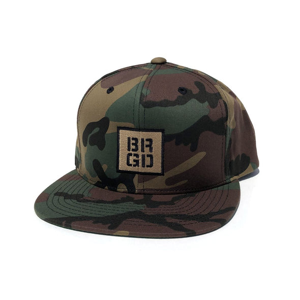 SQUARE BOX SNAPBACK HAT - CAMO