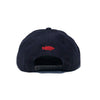SQUARE BOX SNAPBACK HAT - NAVY