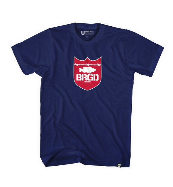 SHIELD LOGO TEE - NAVY