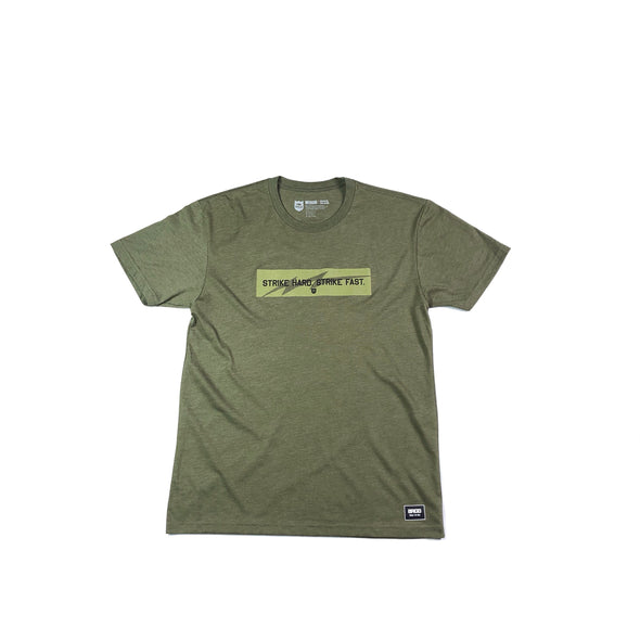 STRIKE HARD STRIKE FAST BOX TEE - ARMY