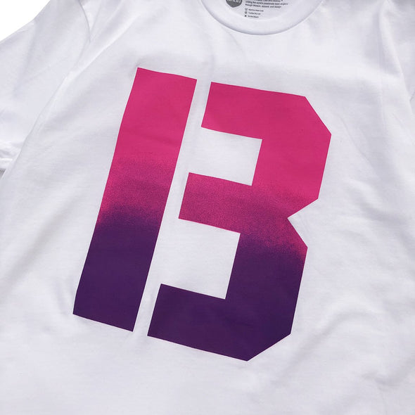 The B Gradient Tee -  White