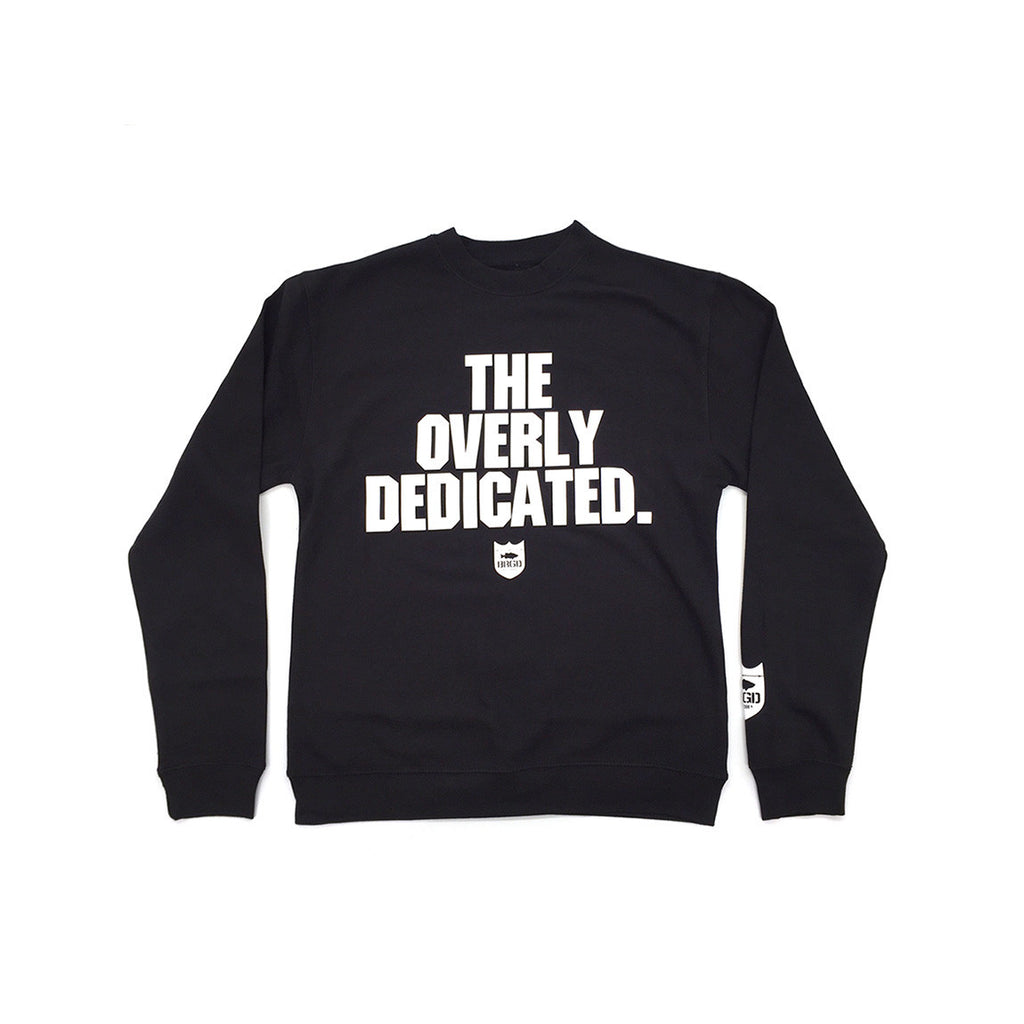 Bass Brigade The Overly Dedicated Crewneck Sweatshirt - Black