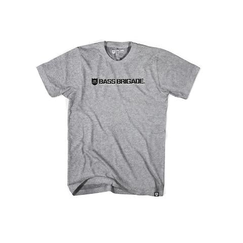 Shield & Wordmark Tee - Athletic Heather/Black