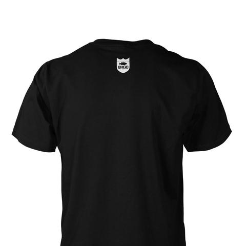 Shield & Wordmark Tee - Black/White