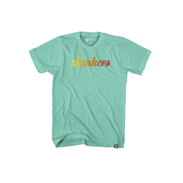 Lunker Gradient Sunset Tee - Celadon/Sunset