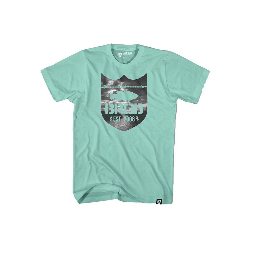 Shield Delta Tee - Celadon/Black