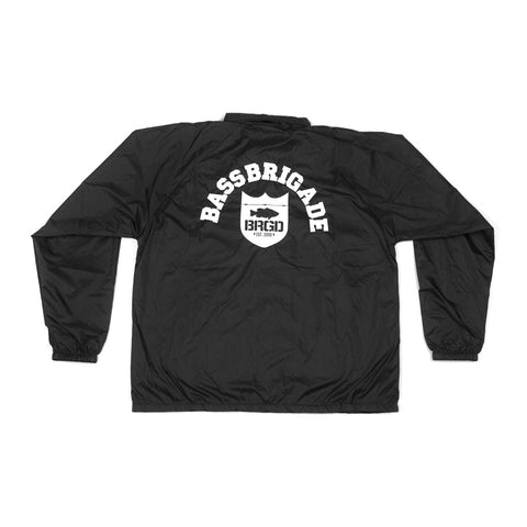 Shield Wordmark Arch Coaches Jacket - Black
