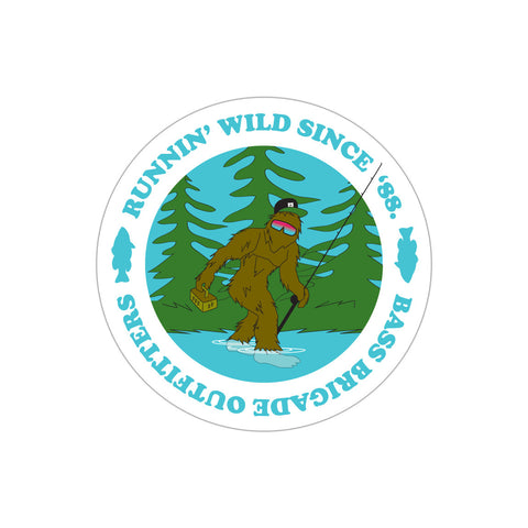 Bass Brigade Bassquatch Sticker - Aqua
