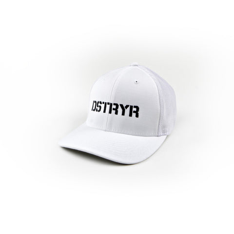 DSTRYR Flexfit Trucker Hat - White