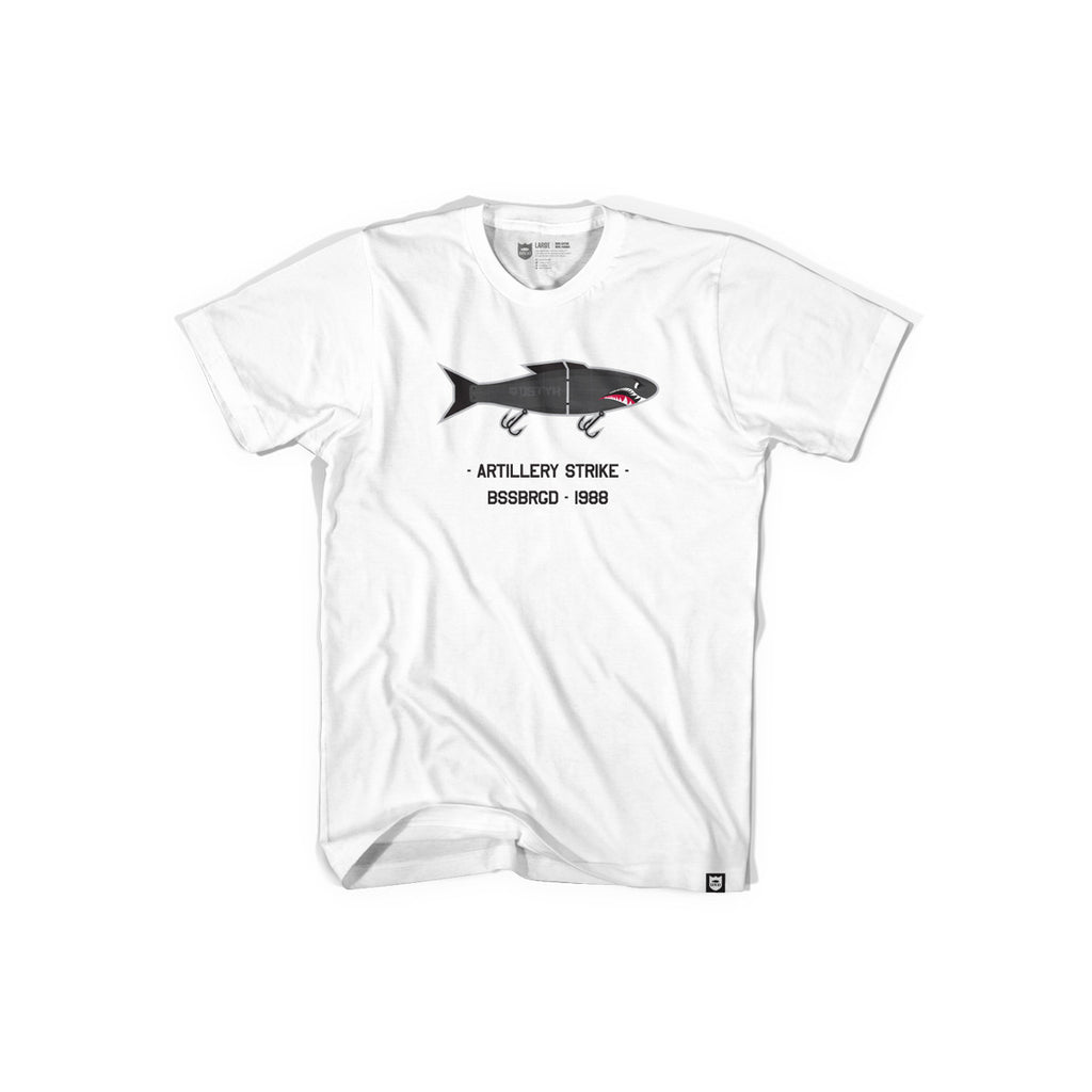 Bass Brigade Fighter Bait Tee - White