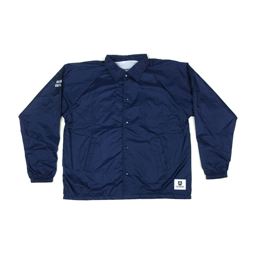 Shield Wordmark Arch Coaches Jacket - Navy Blue