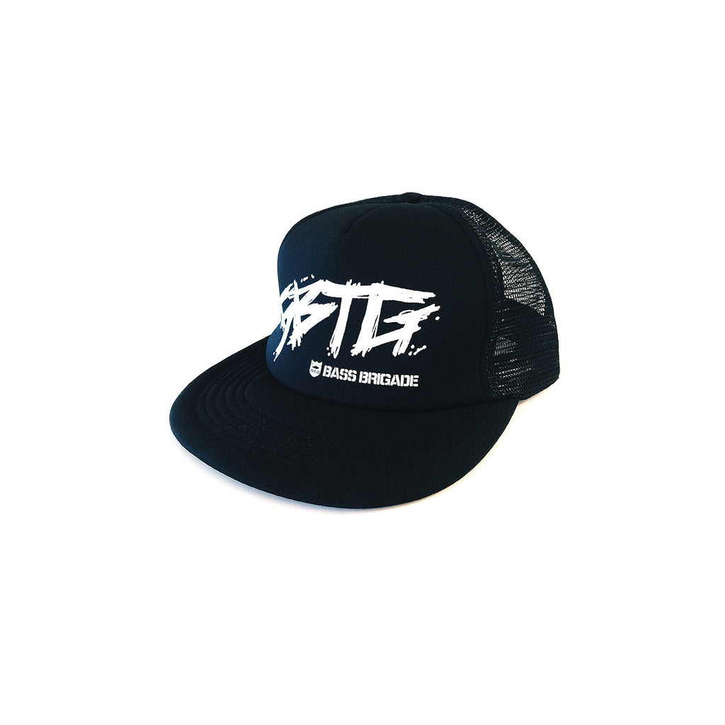 Bass Brigade x Bassers United SBTG Foam Trucker Hat - Black/Black