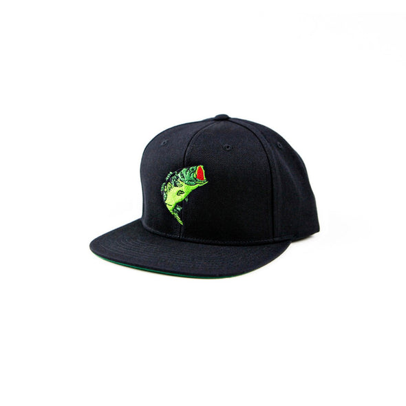 Bass Jump Snapback Hat - Black