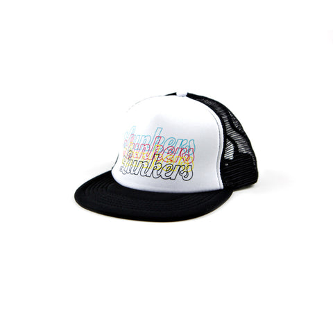 Lunkers Outline Foam Trucker Hat - White/Black