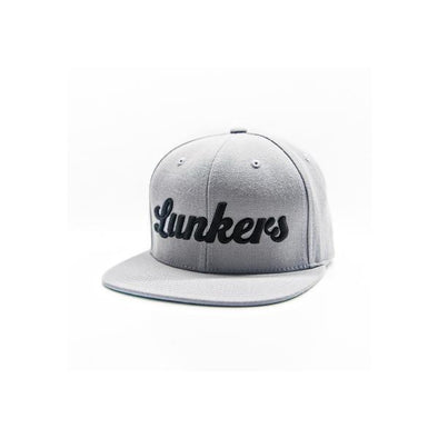 Lunkers Snapback Hat - Silver/Black