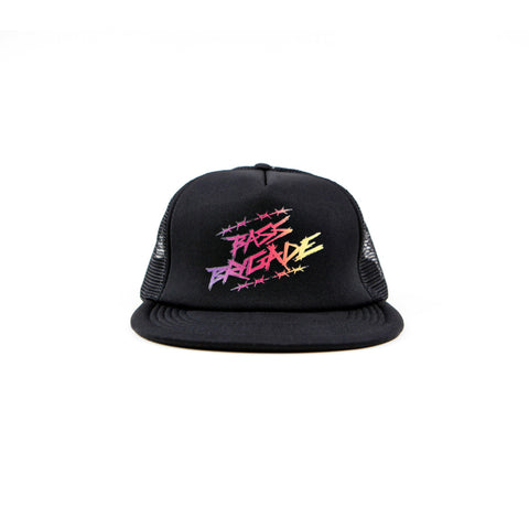 Wired Gradient Foam Trucker Hat - Black/Black