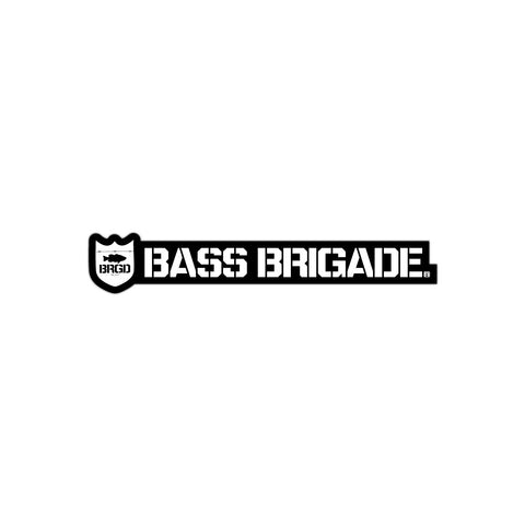 Bass Brigade Shield and Wordmark Die-Cut Sticker Black