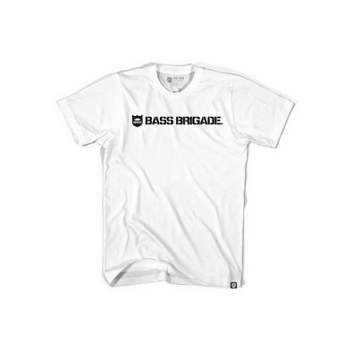 Bass Brigade Shield and Wordmark Tee - White