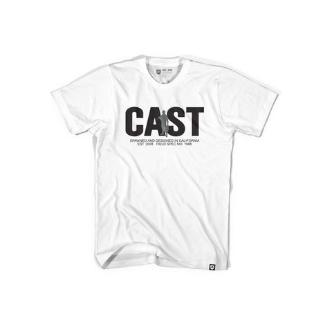 Bass Brigade Cast Tee - White