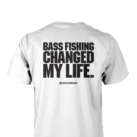 Bass Brigade My Life Pocket Tee - White