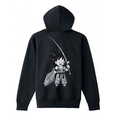 BASS BRIGADE X DRAGON BALL GOKU ZIP HOODIE - BLACK