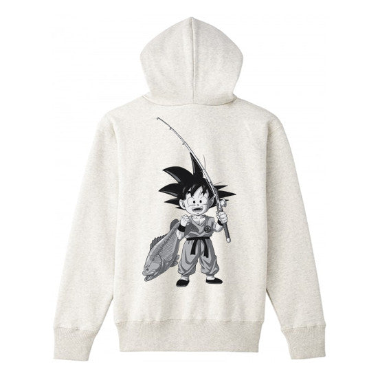 BASS BRIGADE X DRAGON BALL GOKU ZIP HOODIE - OATMEAL