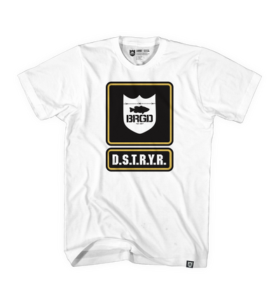Bass Brigade Boot Camp Tee - White