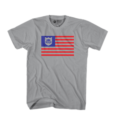 Bass Brigade BRGD Flag Tee - GRAPHITE HEATHER