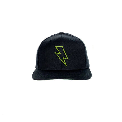 Bolt Edge Snapback Hat - Black/Olive