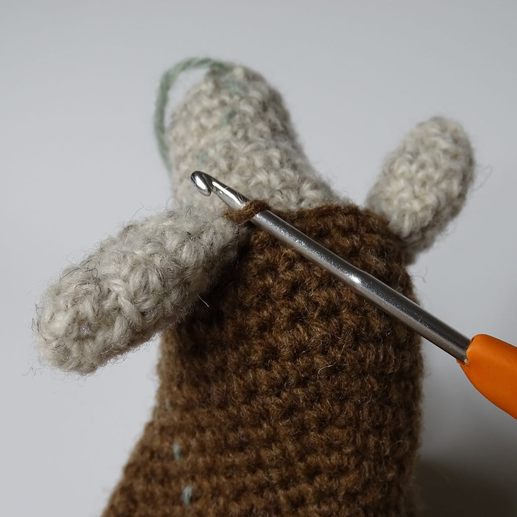 Rejoin yarn in marked stitch to begin the coif.