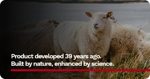 Product developed 39 years ago. Built by nature, enhanced by science