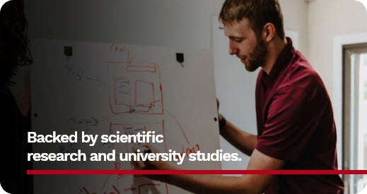 Backed by scientific research and university studies