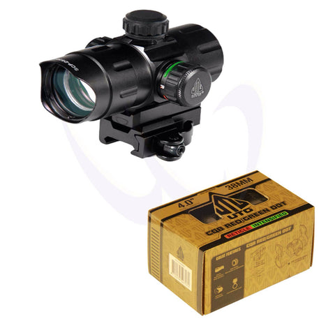 "UTG 4.2"" ITA Red/Green CQB Dot With QD Mount, Rider Adapter"