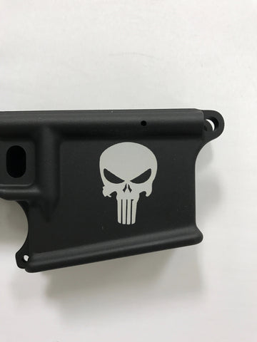 Wise Arms Forged Lower Engraved Punisher