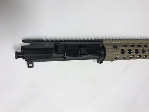 "16 Inch .223 Wylde Upper With 13"" FDE Troy Alpha Rail"