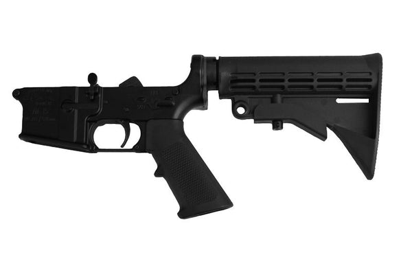 Anderson Complete Lower with 6- position mil-spec Stock