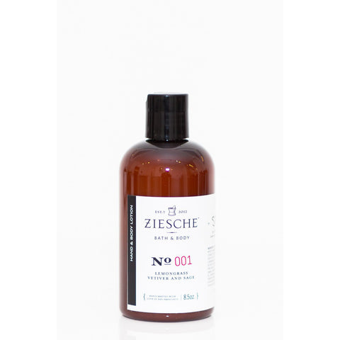 Ziesche - 001 Lemongrass, Vetiver and Sage Hand & Body Lotion - ZIESCHE Modern Apothecary  - 1