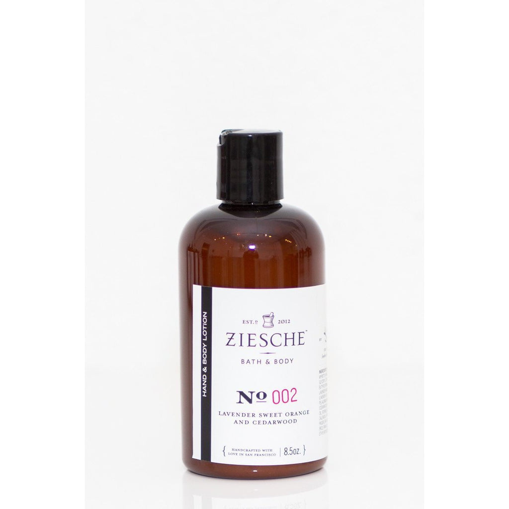 Ziesche - 002 Lavender, Sweet Orange and Cedarwood Hand & Body Lotion - ZIESCHE Modern Apothecary  - 1