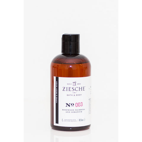 Ziesche - 003 Rosewood, Palmrosa and Geranium Hand & Body Wash