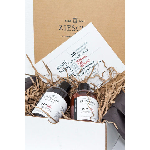 001 Lemongrass, Vetiver and Sage Gift Set - ZIESCHE Modern Apothecary  - 1