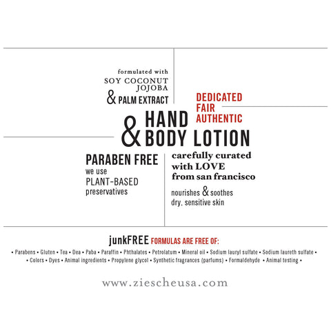 Hand & Paraben Free Body Lotion